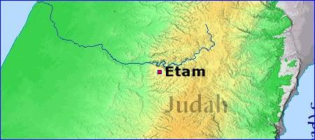 Map - Etam - BibleBento.com